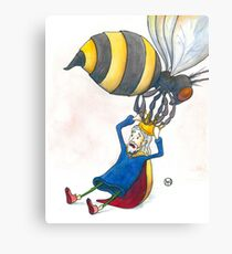 Giant Bumblebee Steals King's Crown Canvas Print