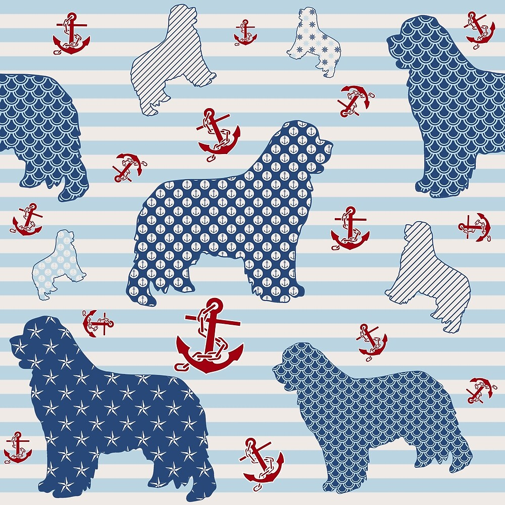 Nautical Newfie Pattern by Christine Mullis