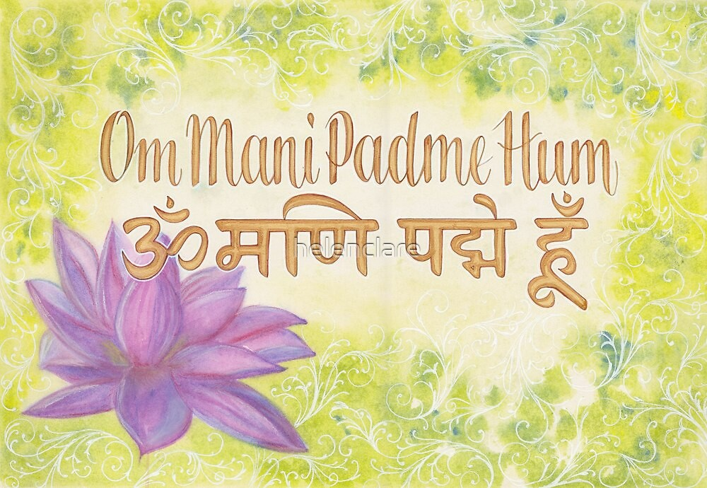 om mani padme hum by helenclare redbubble. Black Bedroom Furniture Sets. Home Design Ideas