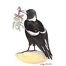 Christmas Magpie by Nicky Johnston