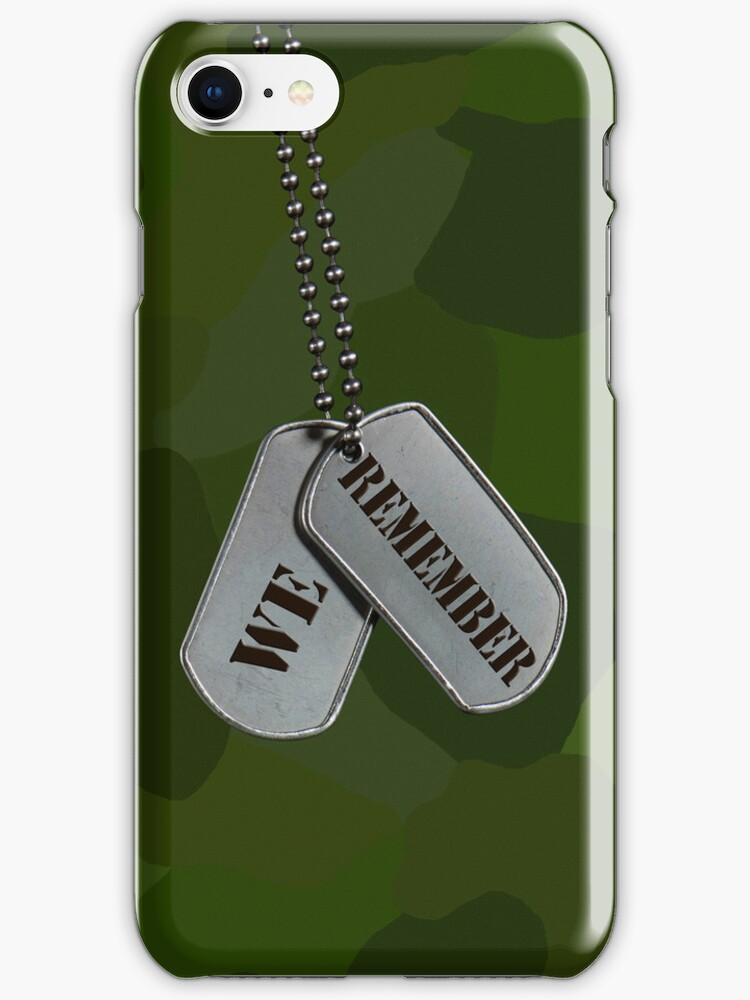 Patriotic Tags (iPhone Case) by Maria Dryfhout