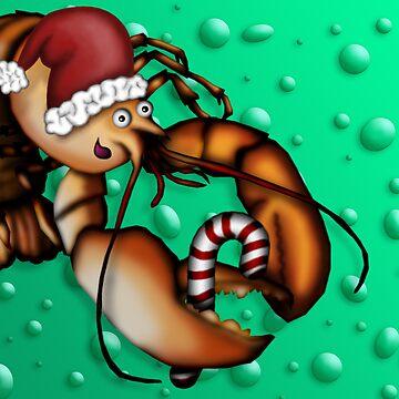Lobster Claus by leeleeandthebee