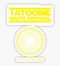Tatooine Disposal Sticker