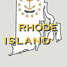 Rhode Island State Flag Map by peteroxcliffe