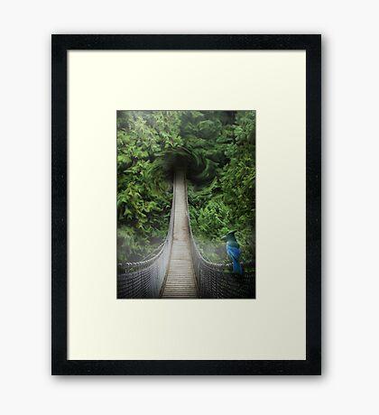 Lynn Canyon , suspension bridge Framed Print