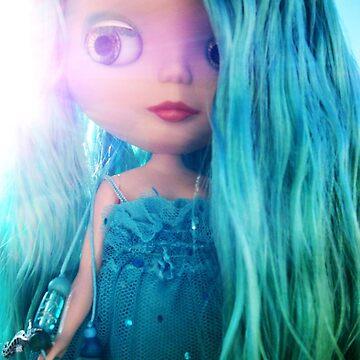 Custom Mermaid Blythe Doll Bathed in Sunlight by phillaine
