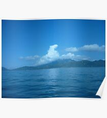 Cloud horse drifting over a island. Poster