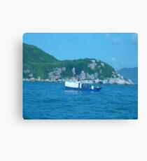 Little junket in the calm bay Canvas Print