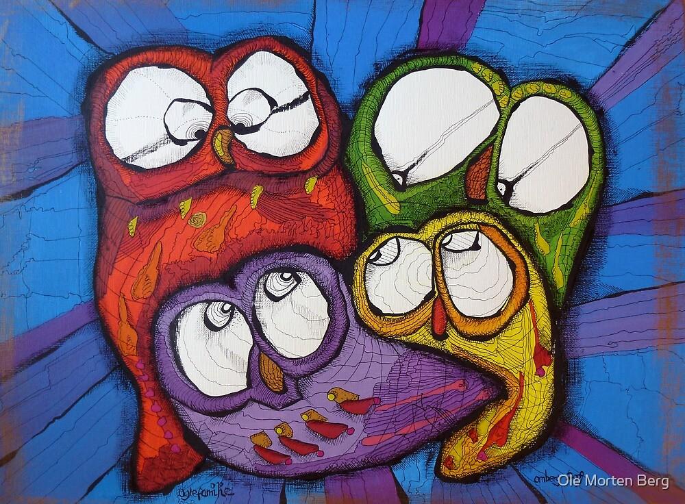 Owl Family by Ole Morten Berg