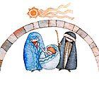 illustration for Christmas whit manger end star comet  by vimasi
