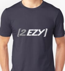"""2 EZY"" men's grey & white 2 sided t-shirt T-Shirt"