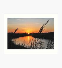 "Sunset in ""my backyard""....... Art Print"