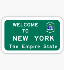Welcome to New York, Road Sign, USA  Sticker