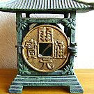 Vintage Japanese Tea Garden Lantern Metal Old Coin  by souzoucreations