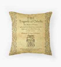 Shakespeare, Othello 1622 Throw Pillow