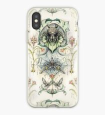 Antique pattern - Spider and Moths iPhone Case