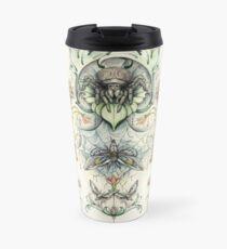 Antique pattern - Spider and Moths Travel Mug