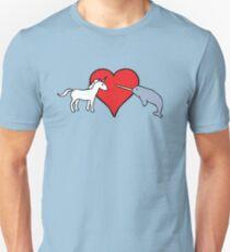 Camiseta ajustada Unicornio ama Narval