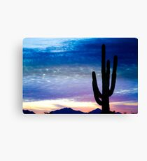 Colorful Southwest Desert Sunrise  Canvas Print