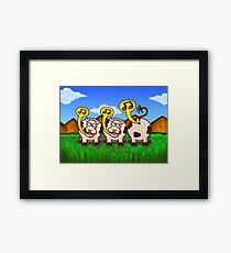 Singing Cows Framed Print