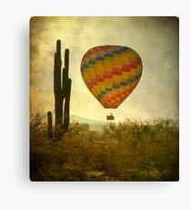 Hot Air Balloon Flight over the Desert Canvas Print