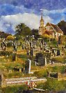 Chapel and Cemetery, Newton Abbot, Devon by David Carton