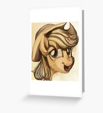 A Silly Pony Greeting Card