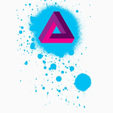 Impossible Triangle Paint Splat by halfurness