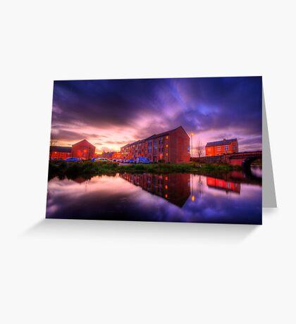 Suburban Sunset 1.0 Greeting Card