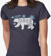 Crazy Polar Bear Lady Women's Fitted T-Shirt