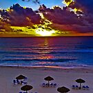 Sunrise in Cancun in October by David Owens