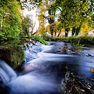 Fast Flowing Water Over A Weir by Mark Dobson