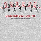 world AIDS day - together we can stop AIDS...  by carol weaver