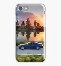 High speed car in Autumn iPhone Case/Skin