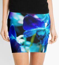 Blue Orchids - Dark Mini Skirt