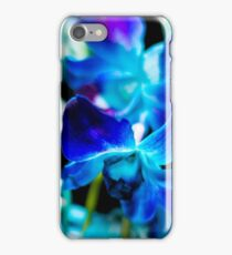 Blue Orchids - Dark iPhone Case/Skin