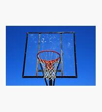Basketball Net and Hoop Photographic Print