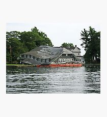Tired Boathouse Photographic Print