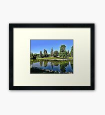Woodland Park - Kalispell, Montana (USA) Framed Print
