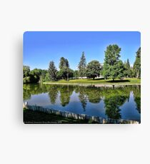 Woodland Park - Kalispell, Montana (USA) Canvas Print