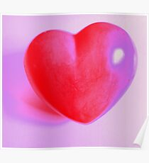 Say it with love - a big red heart - MW Art Marion Waschk Poster