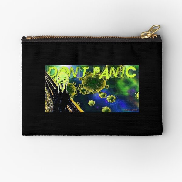 Don't Panic Zipper Pouch