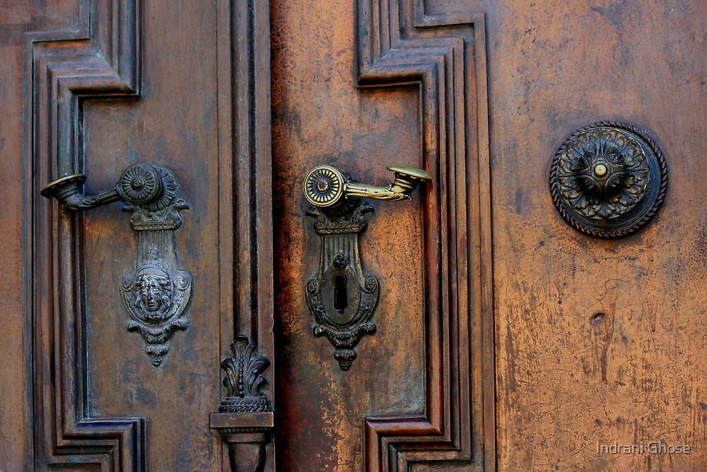 Door details, Gyor Cathedral by Indrani Ghose
