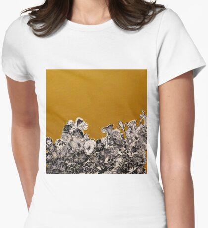 Golden Ochre Woodcut Print T-Shirt