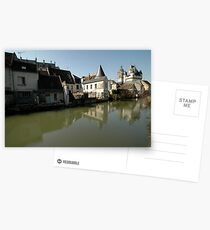 Indres River Reflections, Loches, France 2012 Postcards
