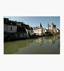 Indres River Reflections, Loches, France 2012 Photographic Print