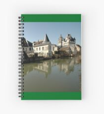 Indres River Reflections, Loches, France 2012 Spiral Notebook