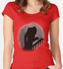Nosferatu Silhouette Women's Fitted Scoop T-Shirt