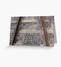 Steel Railway Tracks Greeting Card