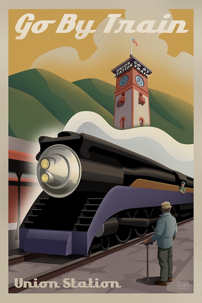 Vintage Union Train Station by mitchfrey
